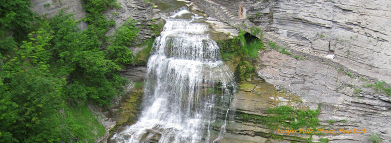 Lucifer Falls - Finger Lakes Waterfall in Robert H. Treman State Park