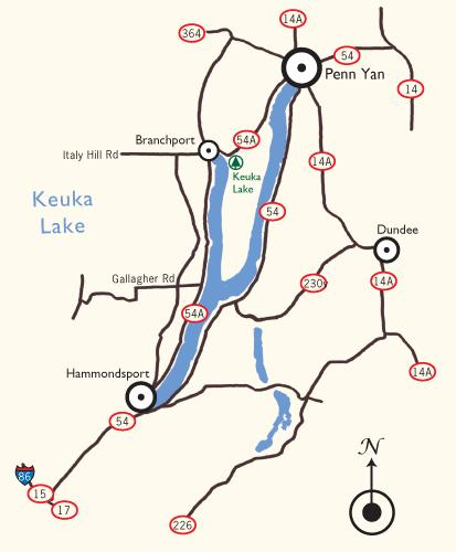 Keuka Lake Map - View Maps of Keuka Lake on map of keuka lake upstate new york, finger lakes wineries, map of cayuga seneca winery, map of keuka lake area,
