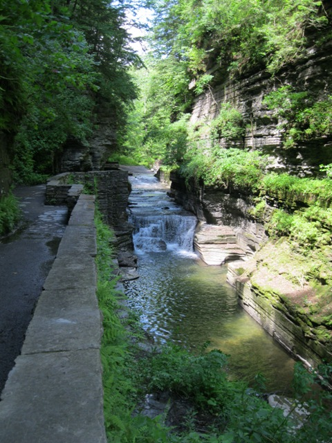Looking upstream from the entrance to the gorge